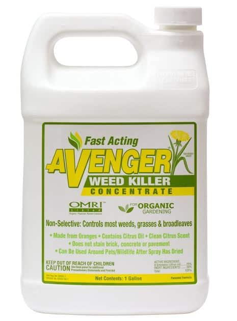 Nature's Avenger Organic Weed Killer Concentrate - roundup substitute organic