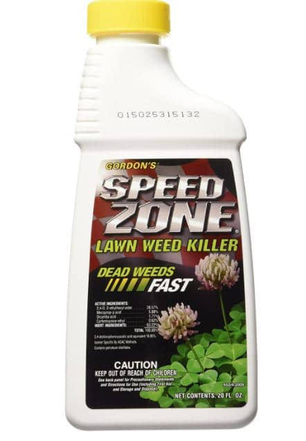 Speed Zone Dicamba herbicide for creeping charlie